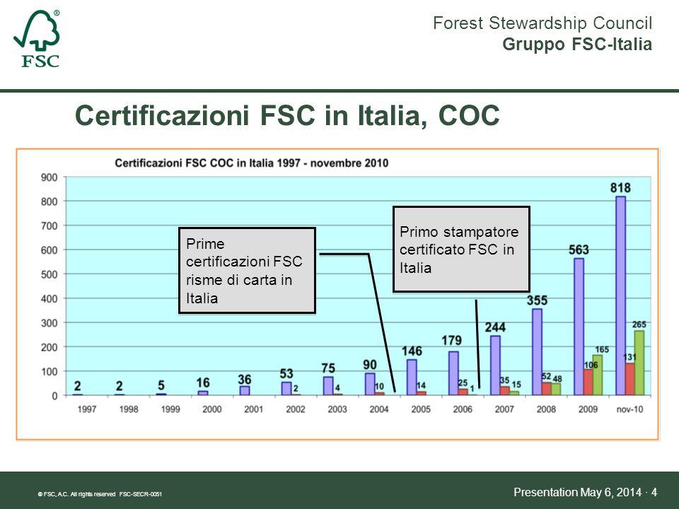 Certificazioni FSC in Italia, COC