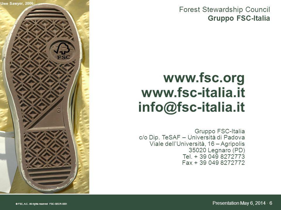 www.fsc.org www.fsc-italia.it info@fsc-italia.it