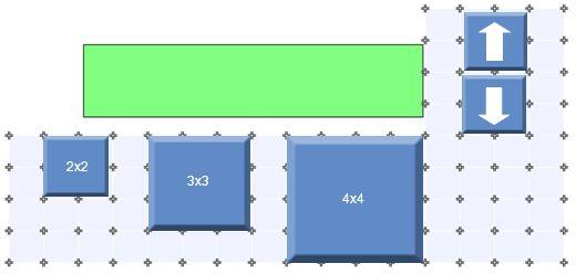 2x2 3x3. 4x4.