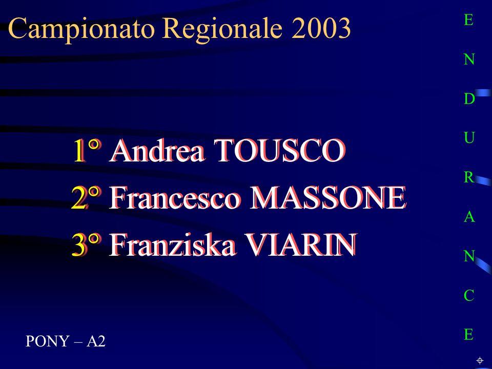 1° Andrea TOUSCO 2° Francesco MASSONE 3° Franziska VIARIN