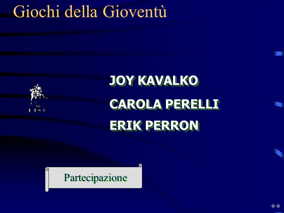 Giochi della Gioventù JOY KAVALKO CAROLA PERELLI ERIK PERRON