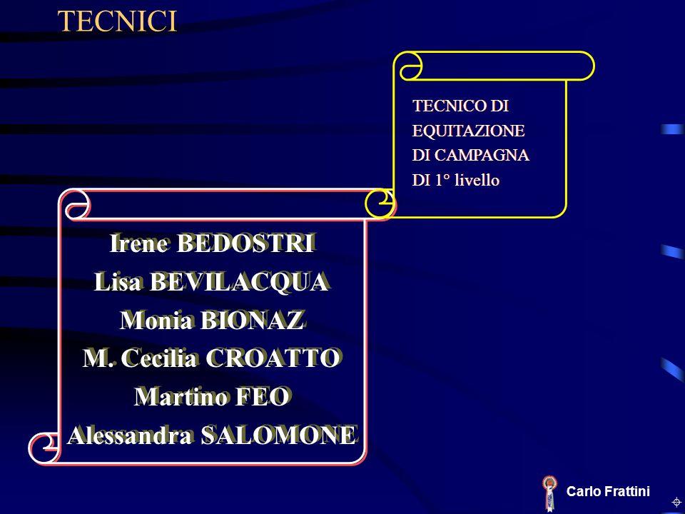 TECNICI Irene BEDOSTRI Lisa BEVILACQUA Monia BIONAZ M. Cecilia CROATTO
