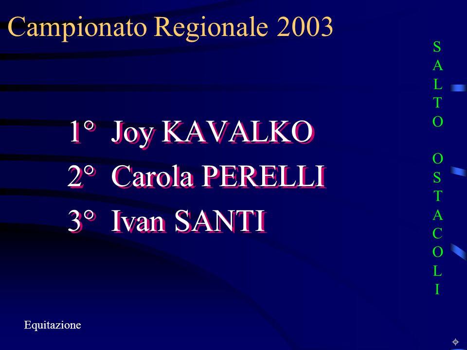 1° Joy KAVALKO 2° Carola PERELLI 3° Ivan SANTI