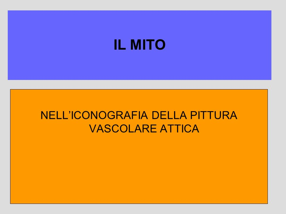 NELL'ICONOGRAFIA DELLA PITTURA VASCOLARE ATTICA