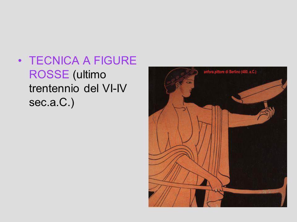 TECNICA A FIGURE ROSSE (ultimo trentennio del VI-IV sec.a.C.)