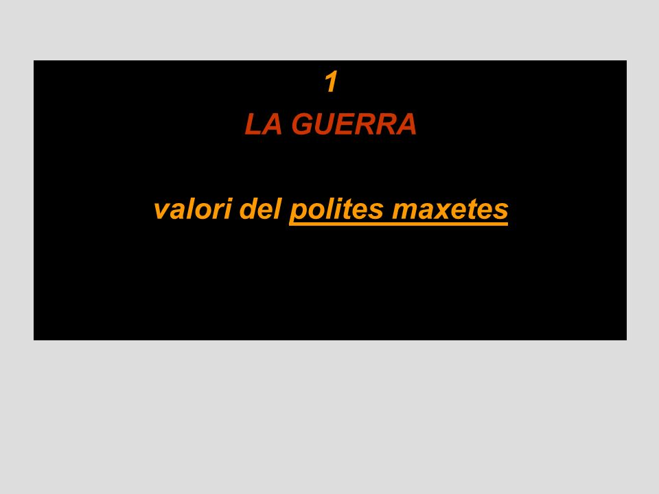valori del polites maxetes