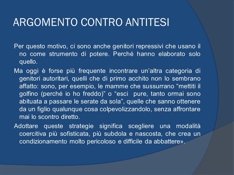 ARGOMENTO CONTRO ANTITESI