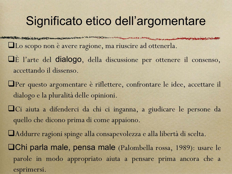 Significato etico dell'argomentare