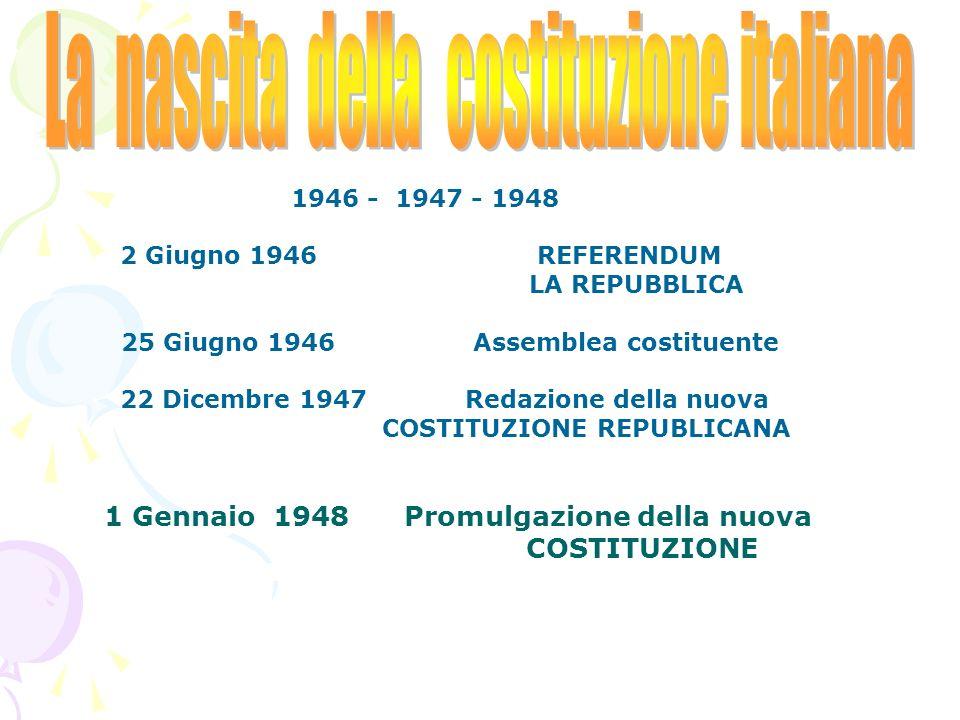 La nascita della costituzione italiana