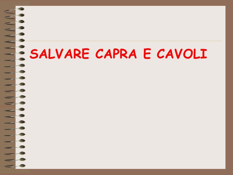 SALVARE CAPRA E CAVOLI