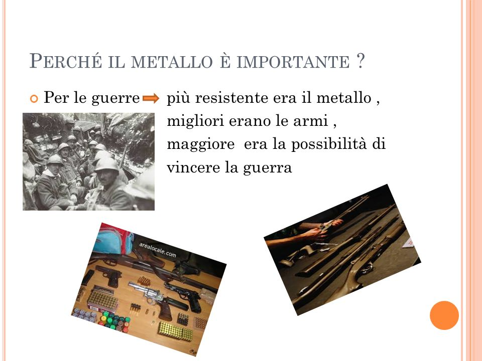 Perché il metallo è importante
