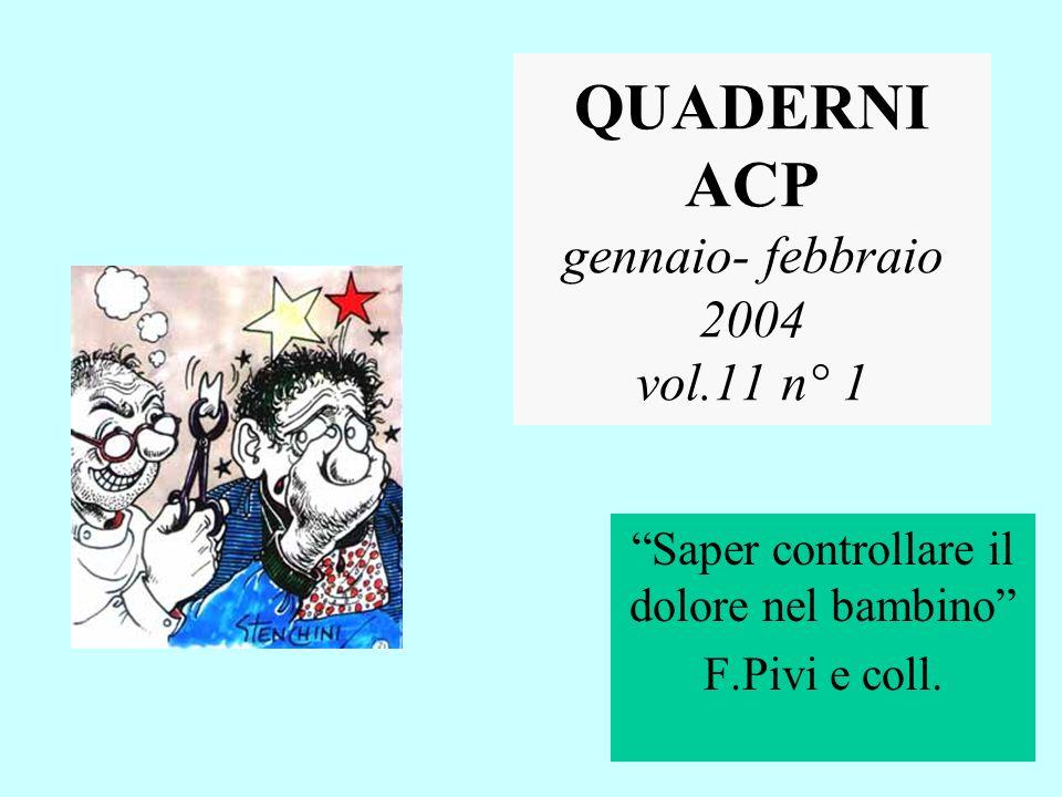 QUADERNI ACP gennaio- febbraio 2004 vol.11 n° 1
