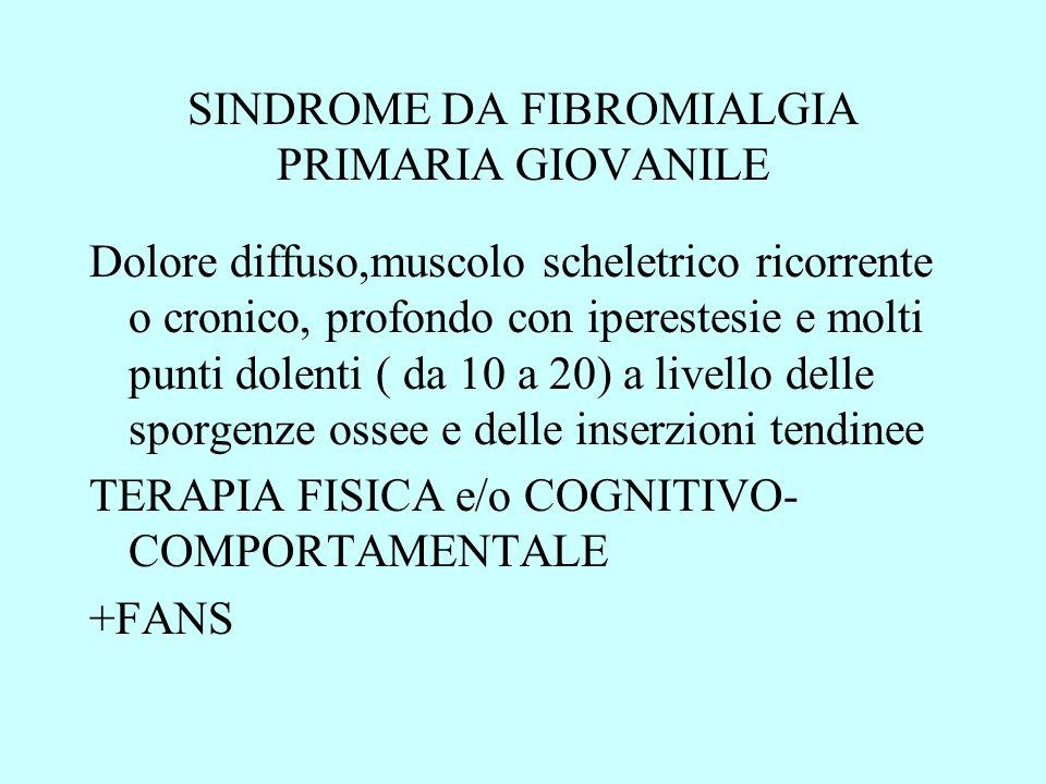SINDROME DA FIBROMIALGIA PRIMARIA GIOVANILE