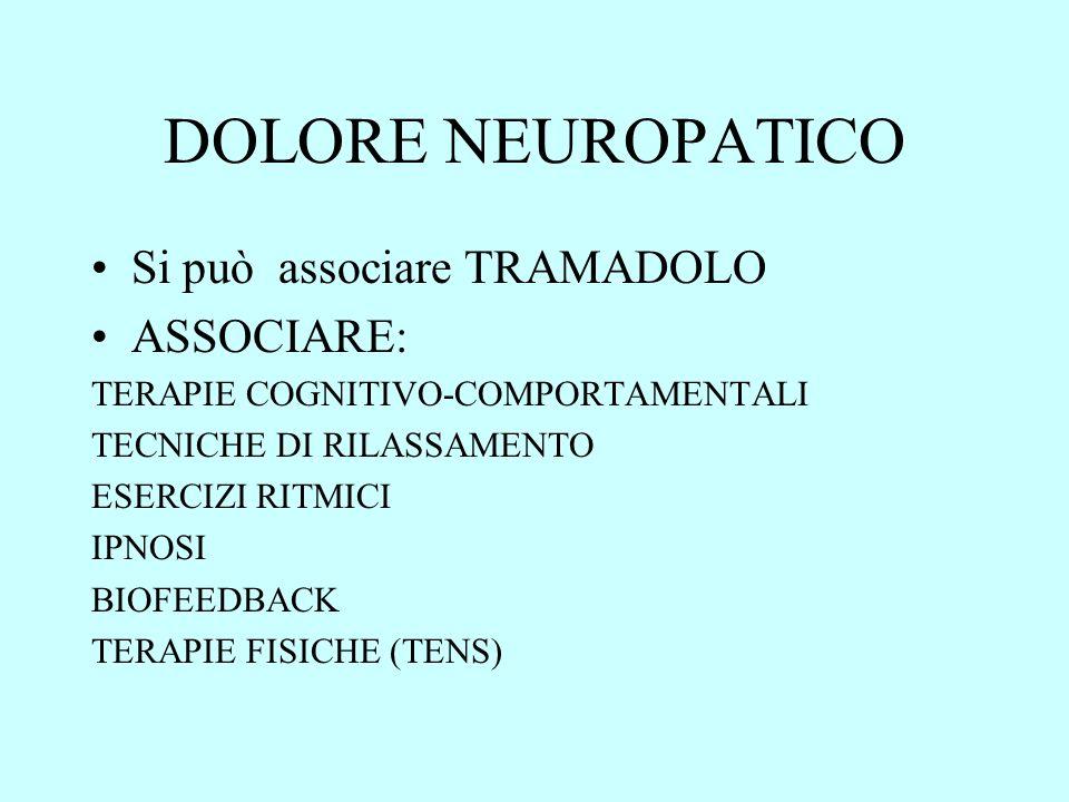DOLORE NEUROPATICO Si può associare TRAMADOLO ASSOCIARE: