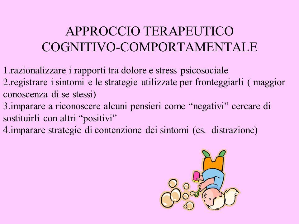 APPROCCIO TERAPEUTICO COGNITIVO-COMPORTAMENTALE