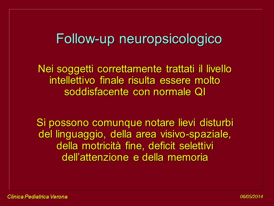 Follow-up neuropsicologico