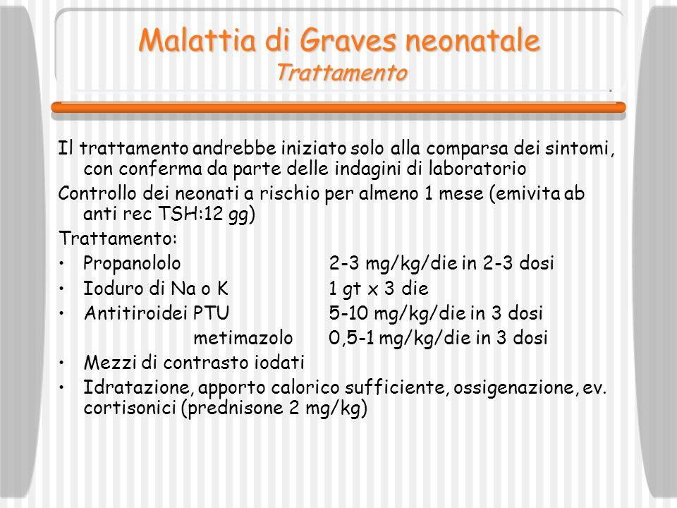 Malattia di Graves neonatale Trattamento
