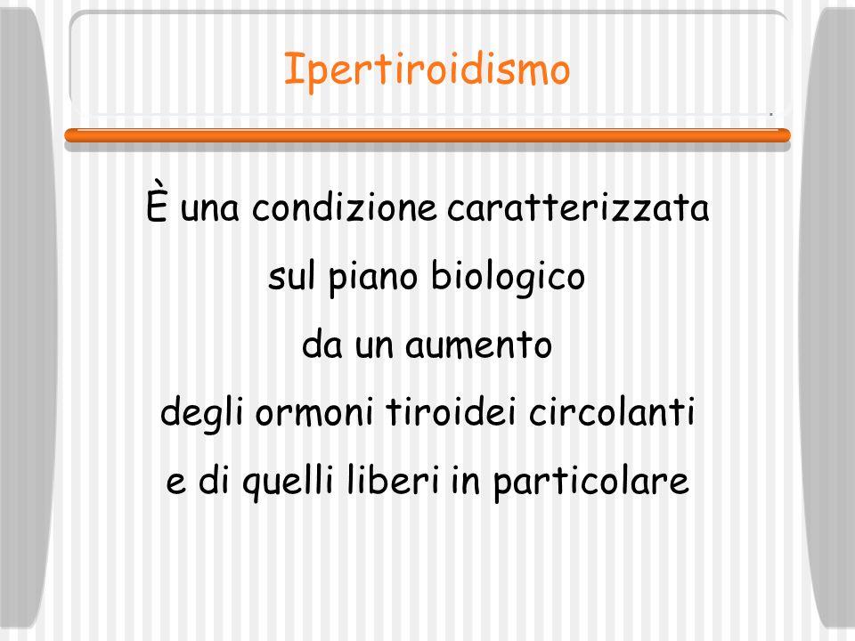 Ipertiroidismo È una condizione caratterizzata sul piano biologico