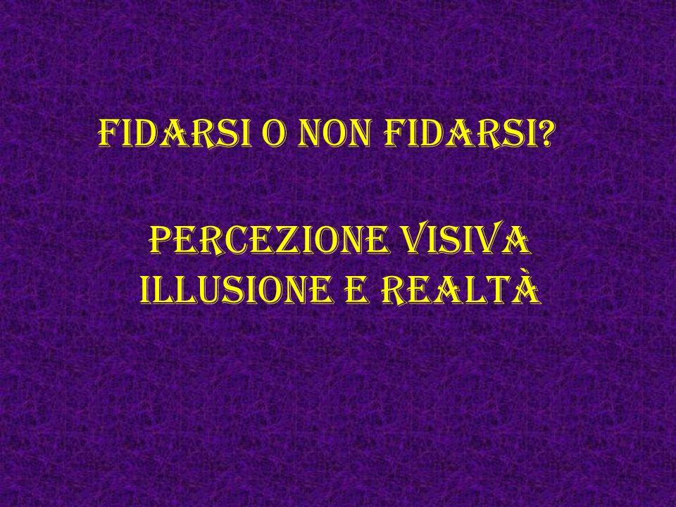 Percezione visiva illusione e realtà