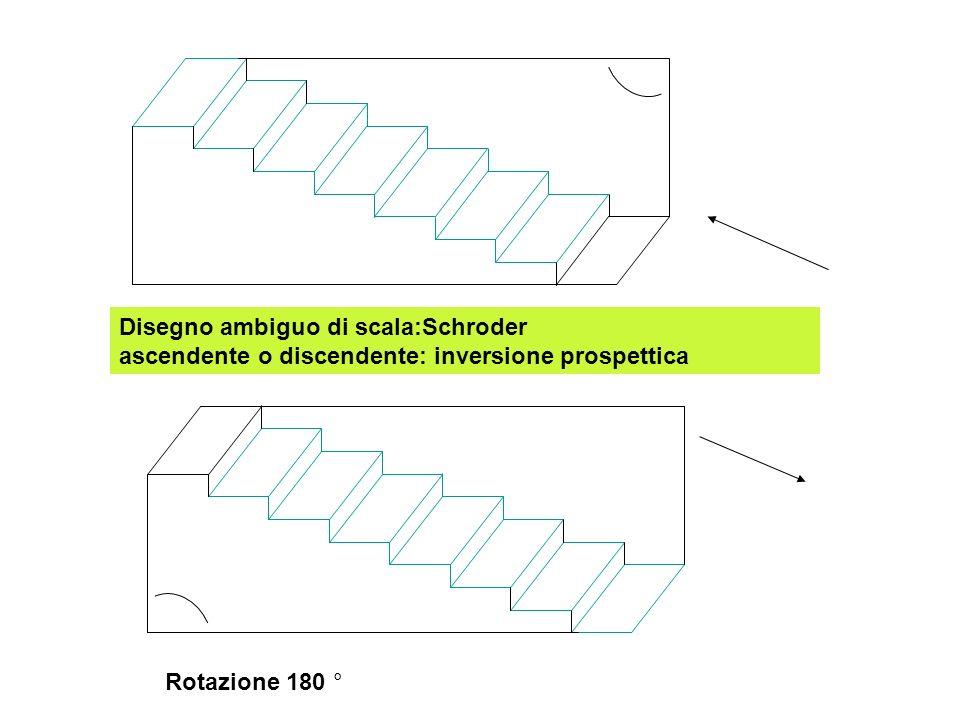 Disegno ambiguo di scala:Schroder ascendente o discendente: inversione prospettica