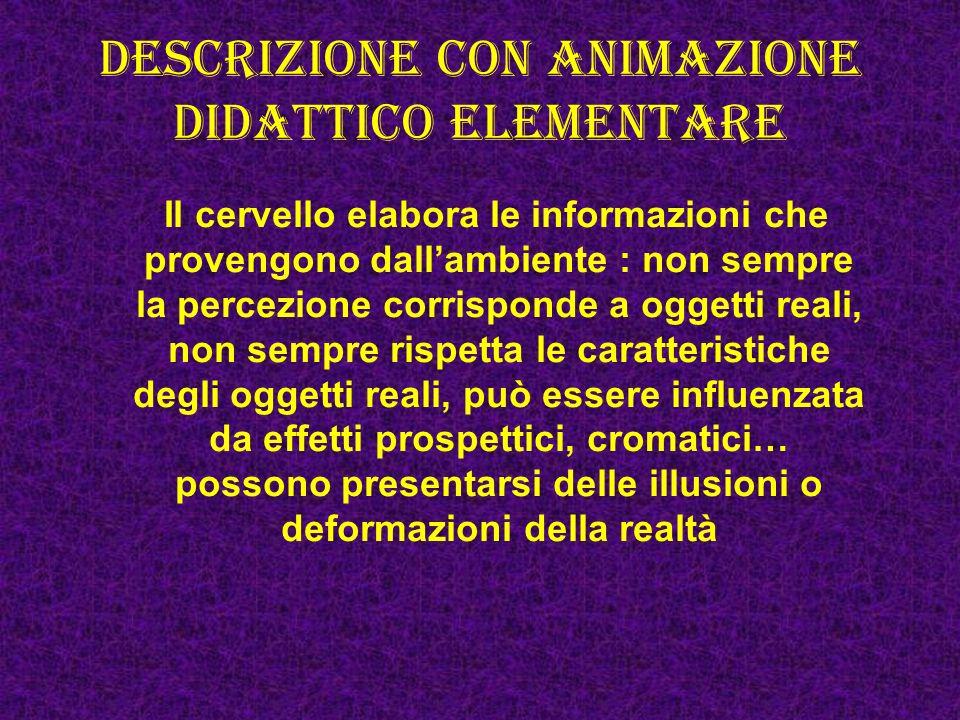 Descrizione con animazione didattico elementare
