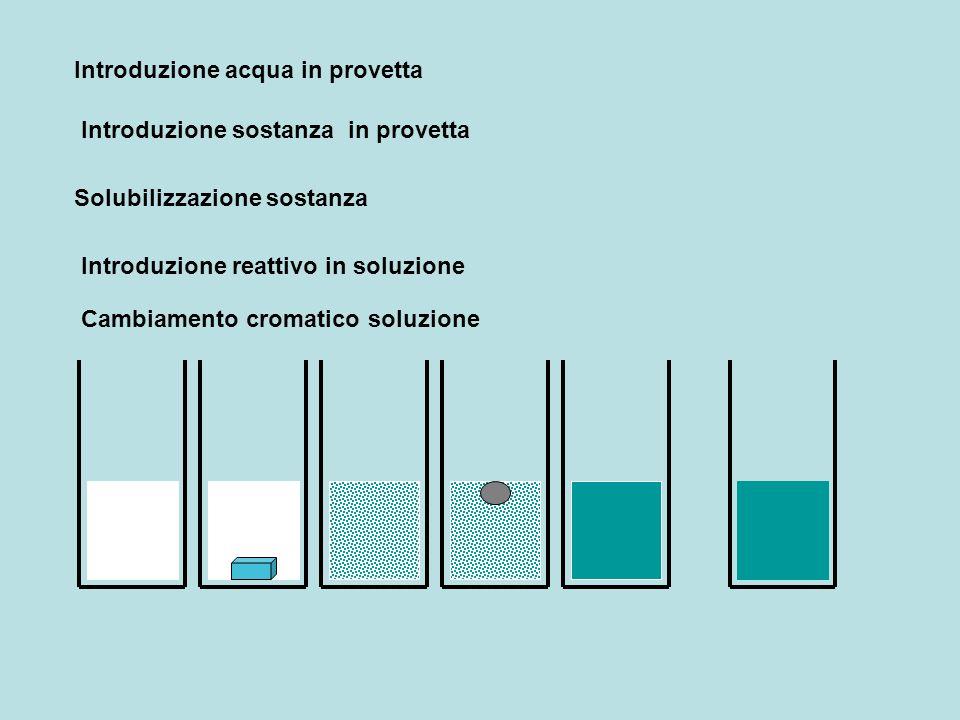 Introduzione acqua in provetta