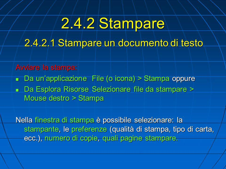 2.4.2.1 Stampare un documento di testo
