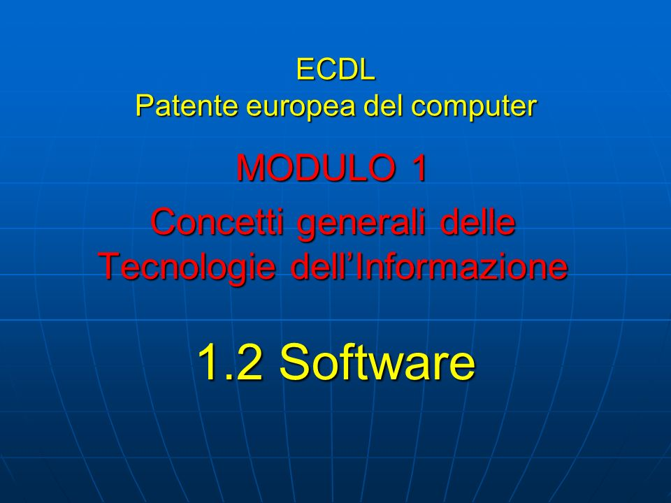 ECDL Patente europea del computer