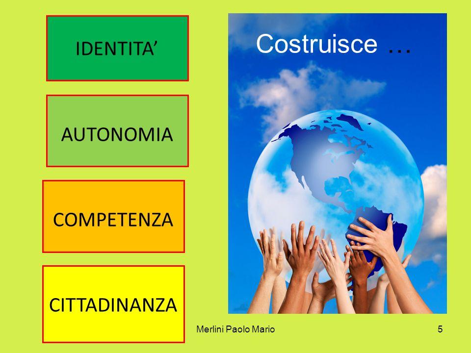 Costruisce … IDENTITA' AUTONOMIA COMPETENZA CITTADINANZA