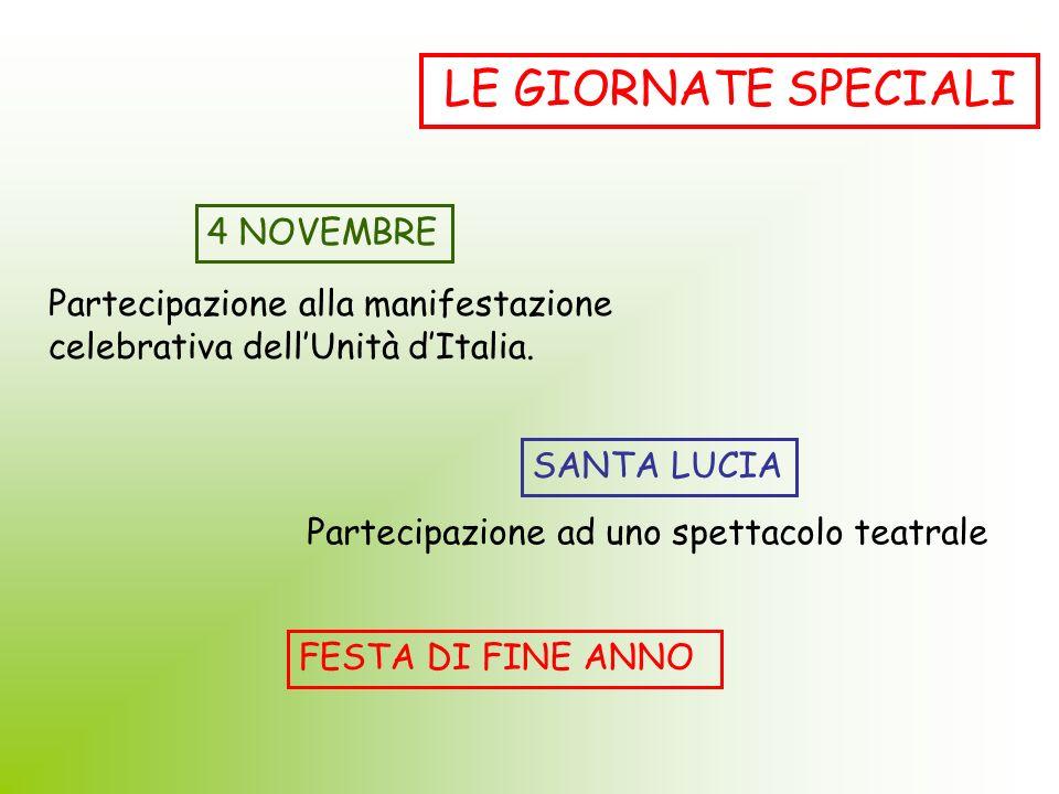 LE GIORNATE SPECIALI 4 NOVEMBRE