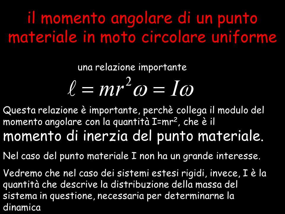 il momento angolare di un punto materiale in moto circolare uniforme