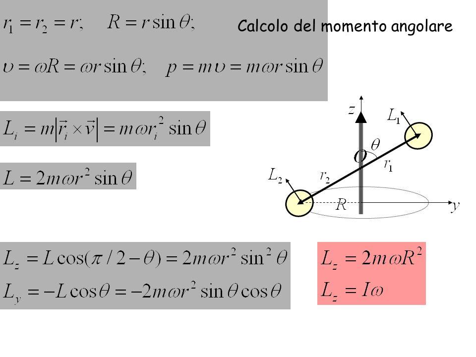 Calcolo del momento angolare
