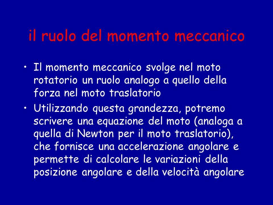 il ruolo del momento meccanico