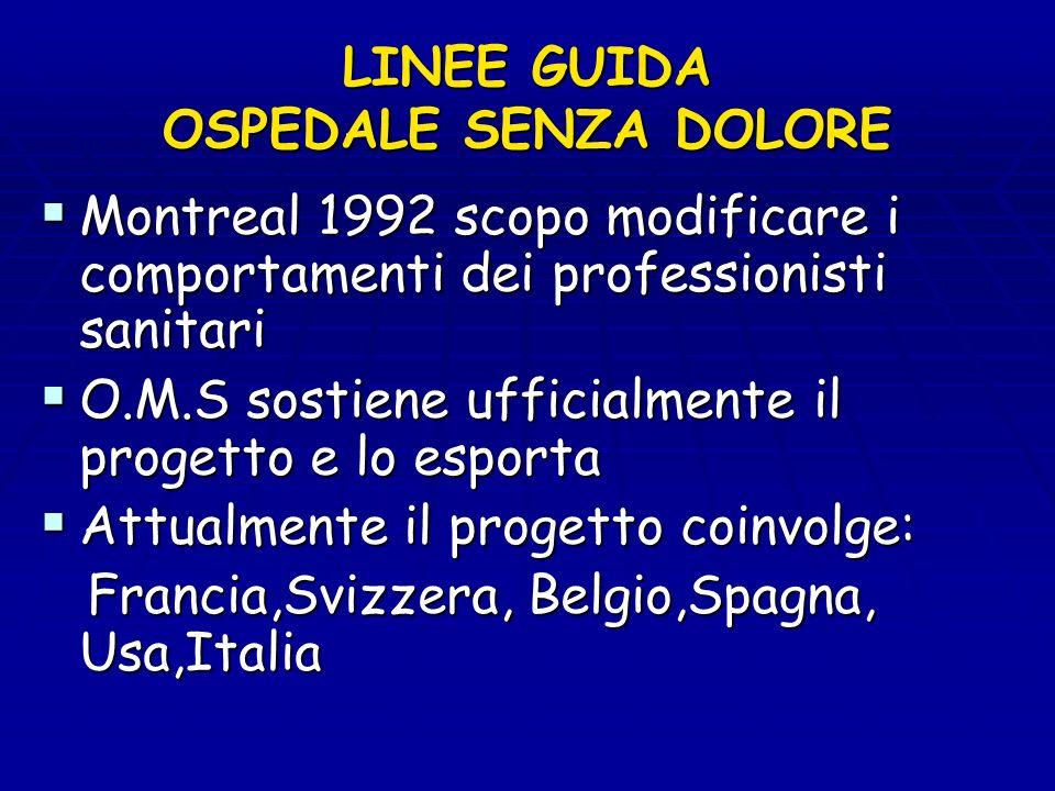 LINEE GUIDA OSPEDALE SENZA DOLORE