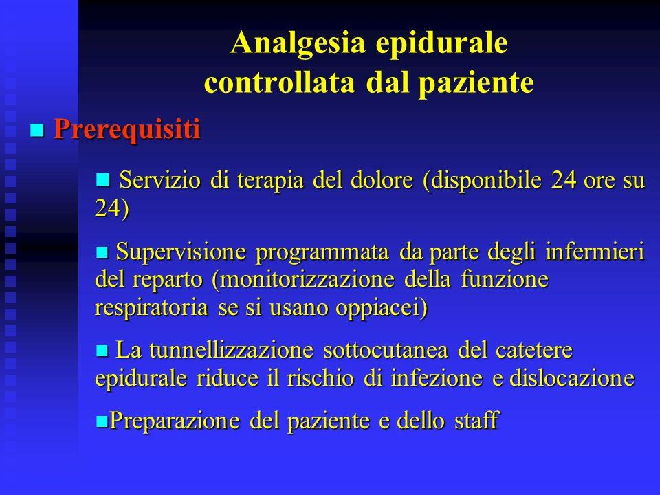 Analgesia epidurale controllata dal paziente