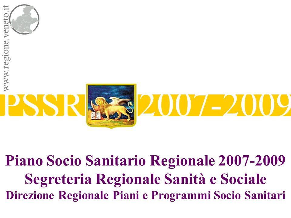 PSSR 2007-2009 Piano Socio Sanitario Regionale 2007-2009