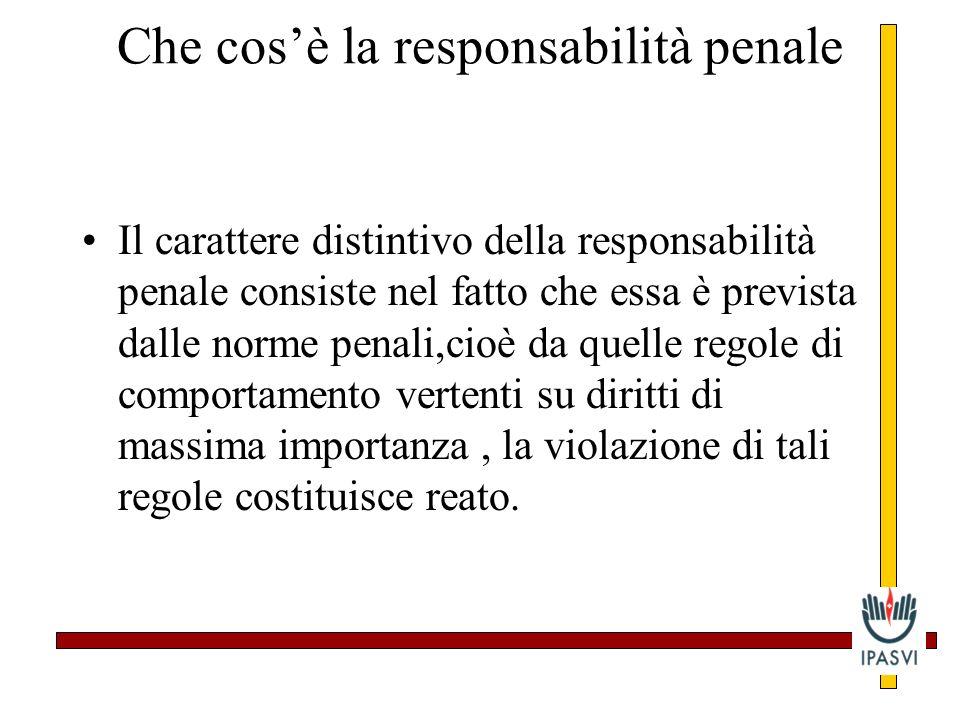 Che cos'è la responsabilità penale