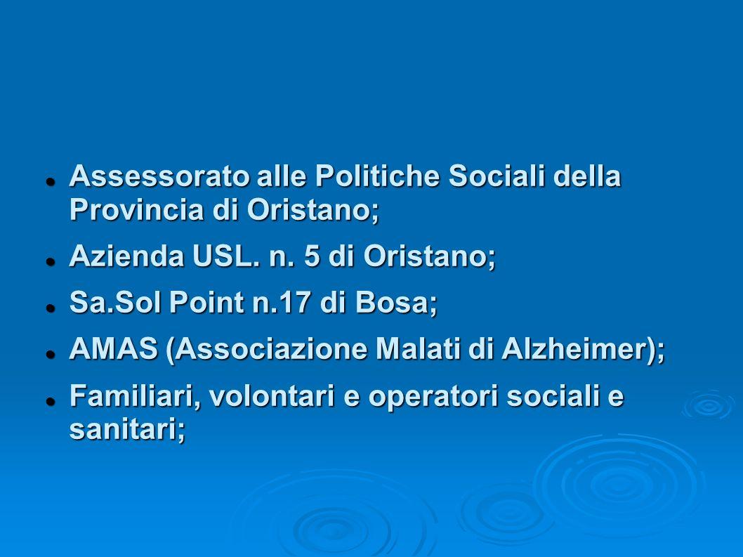 Assessorato alle Politiche Sociali della Provincia di Oristano;
