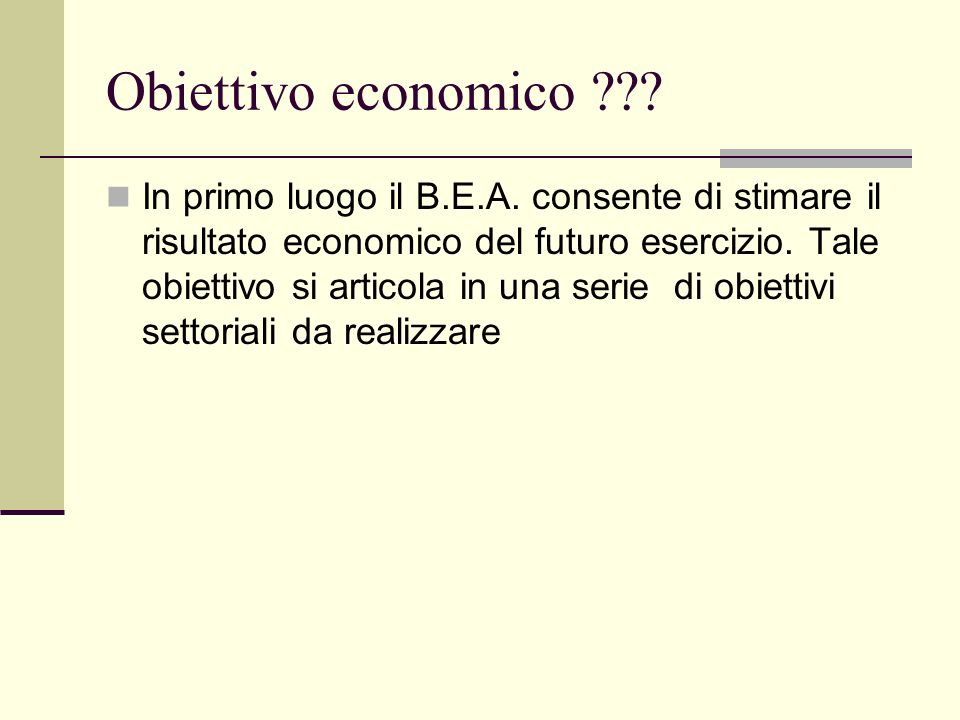 Obiettivo economico