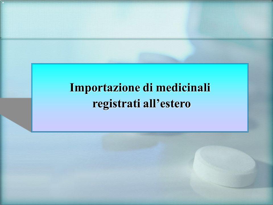 Importazione di medicinali registrati all'estero