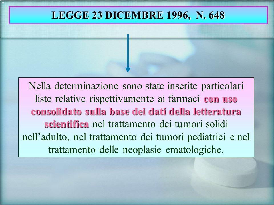 LEGGE 23 DICEMBRE 1996, N. 648