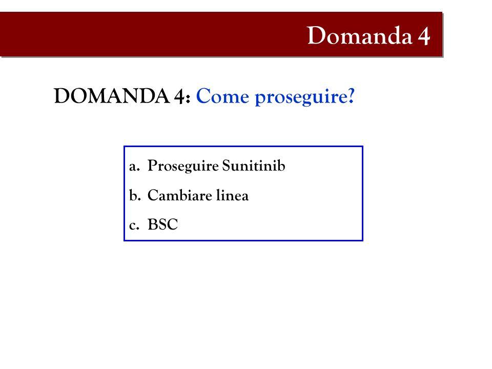 Domanda 4 DOMANDA 4: Come proseguire Proseguire Sunitinib