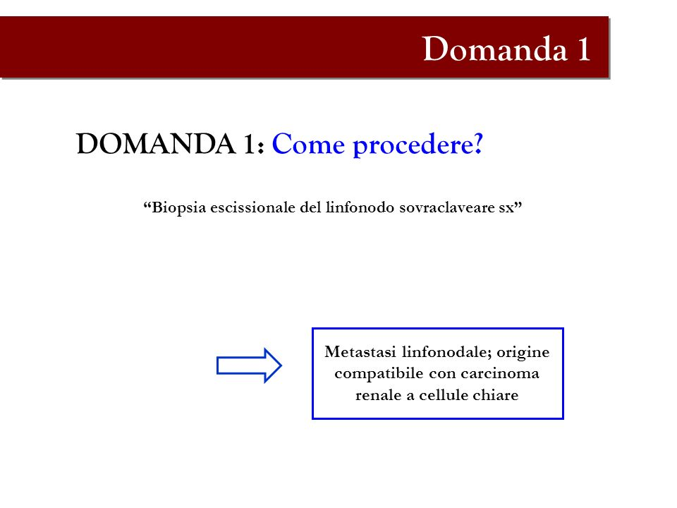Domanda 1 DOMANDA 1: Come procedere