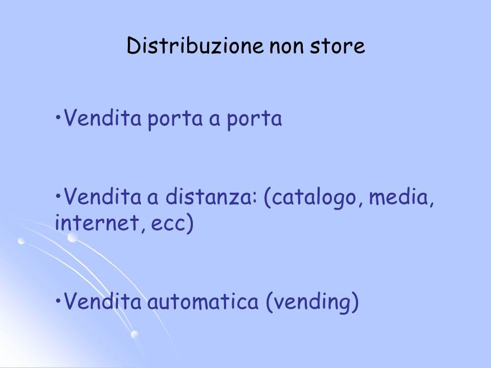 Distribuzione non store