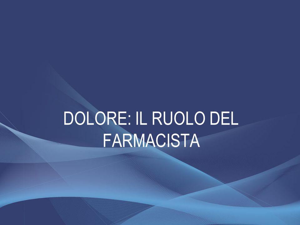 DOLORE: IL RUOLO DEL FARMACISTA