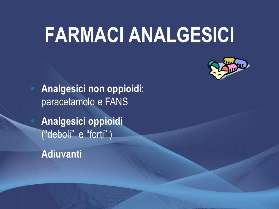 FARMACI ANALGESICI Analgesici non oppioidi: paracetamolo e FANS