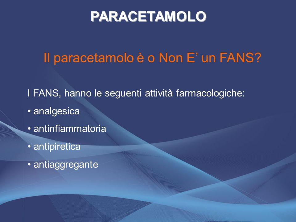Il paracetamolo è o Non E' un FANS