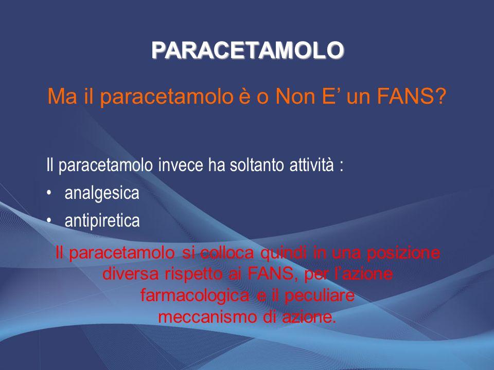 Ma il paracetamolo è o Non E' un FANS