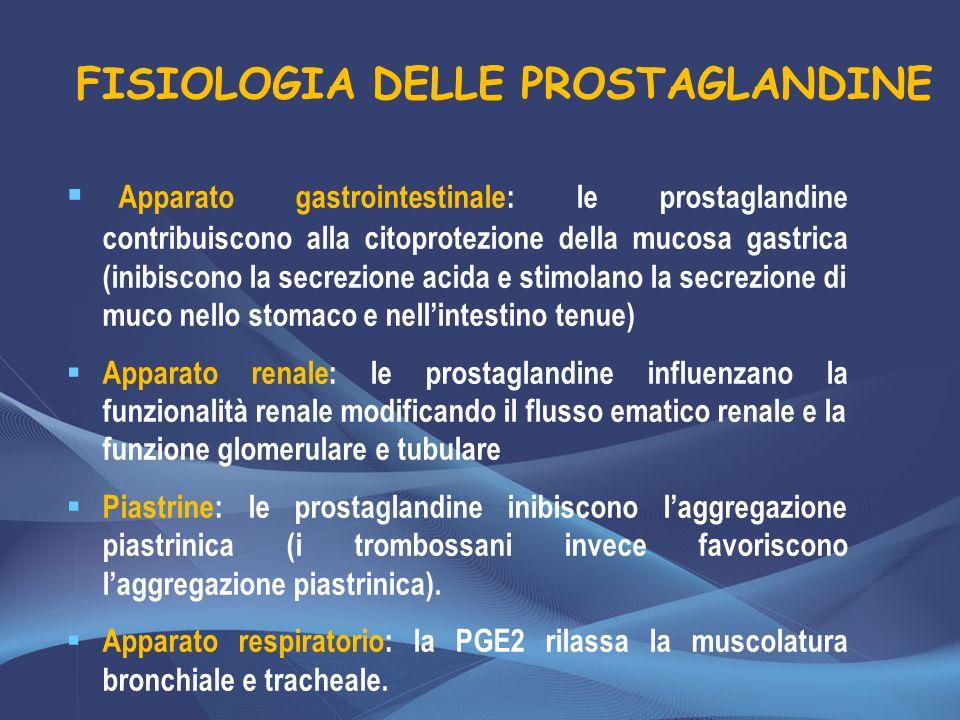FISIOLOGIA DELLE PROSTAGLANDINE