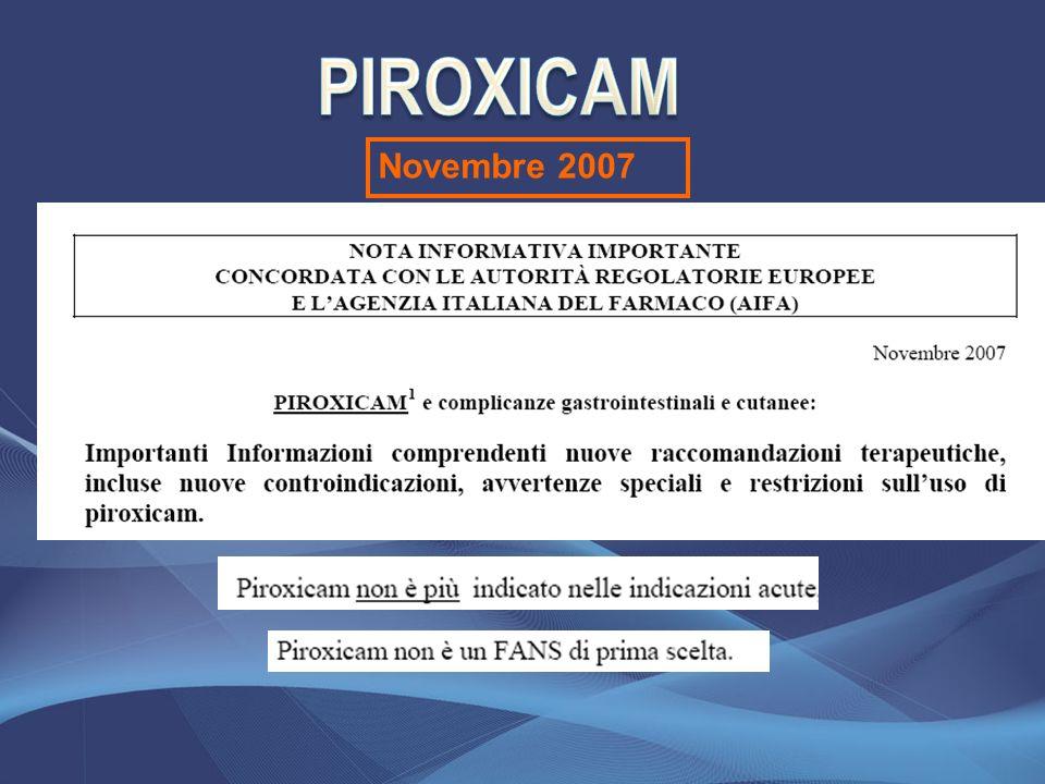 PIROXICAM Novembre 2007